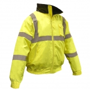 Radians SJ11Q-3ZGS Type R Class 3 Bomber Jacket with Quilted Built-In Liner - Yellow/Lime