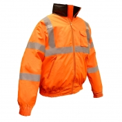 Radians SJ11Q-3ZOS Type R Class 3 Bomber Jacket with Quilted Built-In Liner - Orange