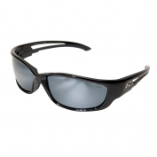 Edge SK-XL117 Kazbek XL Safety Glasses - Black XL Frame - Silver Mirror Lens