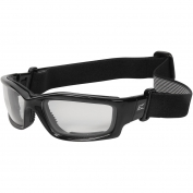 Edge SK111-SP Kazbek Safety Glasses/Goggles - Black Frame & Strap - Clear Vapor Shield Lens