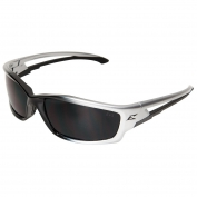 Edge SK116 Kazbek Safety Glasses - Black/Silver Frame - Smoke Lens