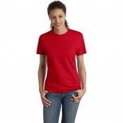 Hanes SL04 Ladies Nano-T Cotton T-Shirt  - Deep Red