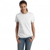 Hanes SL04 Ladies Nano-T Cotton T-Shirt  - White