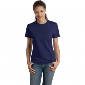 Hanes SL04 Ladies Nano-T Cotton T-Shirt - Navy