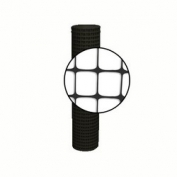 Resinet Square Mesh Fence 4x100 ft - Black