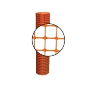 Resinet Square Mesh Fence 4x100 ft - Orange
