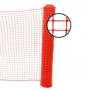 Resinet Square Mesh Fence 4x100 ft - Red