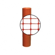 Resinet Lightweight Square Mesh Barrier Fence - 4 ft x 50 ft - Orange