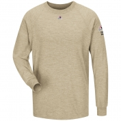 Bulwark FR SMT2KH Long Sleeve Performance T-Shirt - CoolTouch 2 - Khaki
