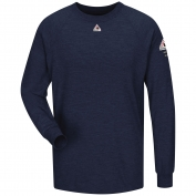 Bulwark FR SMT2NV Long Sleeve Performance T-Shirt - CoolTouch 2 - Navy