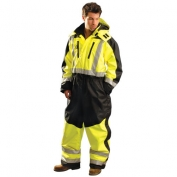 OccuNomix SP-CVL Speed Collection Type R Class 3 Cold Weather Coveralls - Yellow/Black