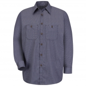 Red Kap SP10 Men's Micro Check Uniform Shirt - Long Sleeve