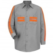 Red Kap SP14WM Enhanced Visibility Shirt - Long Sleeve