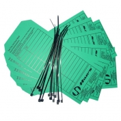 Green Waterproof Test Cards Pack of 25 Cards