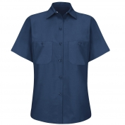 Red Kap SP23 Women's Industrial Work Shirt - Short Sleeve