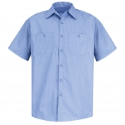 Red Kap SP24 Men's DuraStripe Work Shirt - Short Sleeve