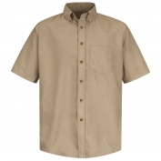 Red Kap SP80 Men's Poplin Dress Shirt - Short Sleeve