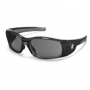 Crews Swagger Safety Glasses - Black Frame - Gray Polarized Lens