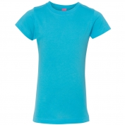 LAT 2616 Girls' Fine Jersey Longer Length T-Shirt