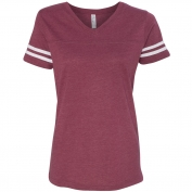LAT 3537 Women's Vintage Football T-Shirt
