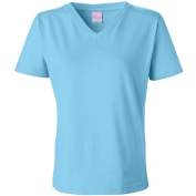 LAT 3587 Women's Short Sleeve V-Neck T-Shirt