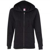 LAT 3763 Women's French Terry Full-Zip Hooded Sweatshirt