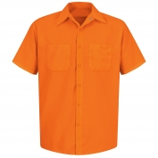 Red Kap SS24 Enhanced Visibility Work Shirt - Short Sleeve - Fluorescent Orange
