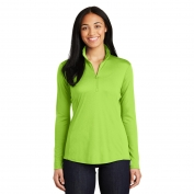 Sport-Tek LST357 Ladies PosiCharge Competitor 1/4-Zip Pullover- Lime Shock