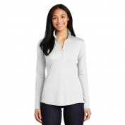 Sport-Tek LST357 Ladies PosiCharge Competitor 1/4-Zip Pullover- White