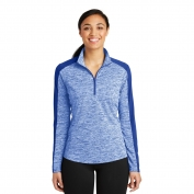 Sport-Tek LST397 PosiCharge Electric Heather Colorblock 1/4-Zip Pullover - True Royal Electric/True Royal