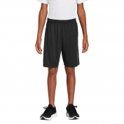 Sport-Tek YST355P Youth PosiCharge Competitor Pocketed Shorts - Black