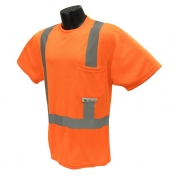 Radians ST11-2POS Class 2 Mesh Safety Shirt - Orange