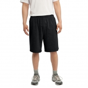 Sport-Tek ST310 Jersey Knit Shorts with Pockets - Black