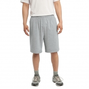 Sport-Tek ST310 Jersey Knit Shorts with Pockets - Heather Grey