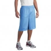 Sport-Tek ST511 Extra Long PosiCharge Classic Mesh Shorts - Carolina Blue