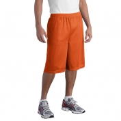 Sport-Tek ST511 Extra Long PosiCharge Classic Mesh Shorts - Deep Orange
