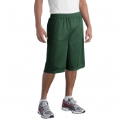 Sport-Tek ST511 Extra Long PosiCharge Classic Mesh Shorts - Forest Green
