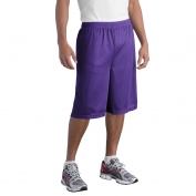 Sport-Tek ST511 Extra Long PosiCharge Classic Mesh Shorts - Purple