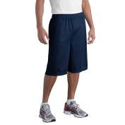 Sport-Tek ST511 Extra Long PosiCharge Classic Mesh Shorts - True Navy