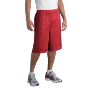Sport-Tek ST511 Extra Long PosiCharge Classic Mesh Shorts - True Red