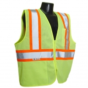 Radians SV22-2ZGM Two-Tone Economy Type R Class 2 Safety Vest - Yellow/Lime