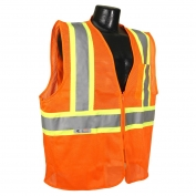 Radians SV22-2ZOM Two-Tone Economy Type R Class 2 Safety Vest - Orange