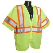 Radians SV22-3ZGM Economy Type R Class 3 Two-Tone Safety Vest - Yellow/Lime