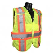 Radians SV24-2ZGM Type R Class 2 Breakaway Expandable Safety Vest - Yellow/Lime
