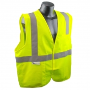 Radians SV2GS Economy Type R Class 2 Solid Safety Vest - Yellow/Lime