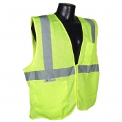 Radians SV2ZGM Economy Type R Class 2 Mesh Safety Vest with Zipper - Yellow/Lime