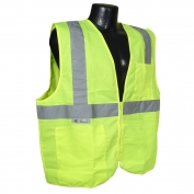 Radians SV2ZGS Economy Type R Class 2 Solid Safety Vest with Zipper - Yellow/Lime