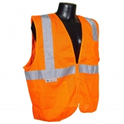 Radians SV2ZOM Economy Type R Class 2 Mesh Safety Vest with Zipper - Orange