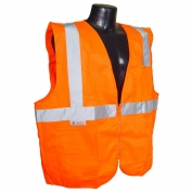 Radians SV2ZOS Economy Class 2 Solid Safety Vest with Zipper - Orange