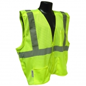 Radians SV4GM Economy Type R Class 2 Breakaway Mesh Safety Vest - Yellow/Lime